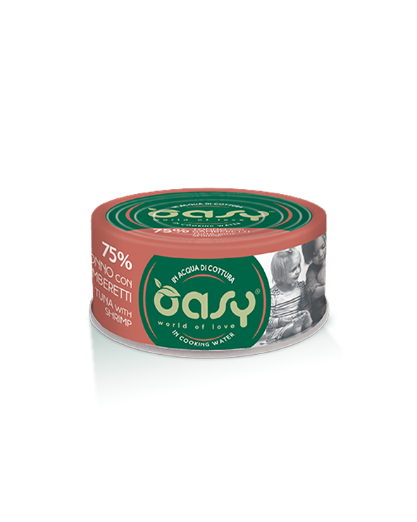 Oasy Cat More Love Tonno con Gamberetti Lattina 70 g