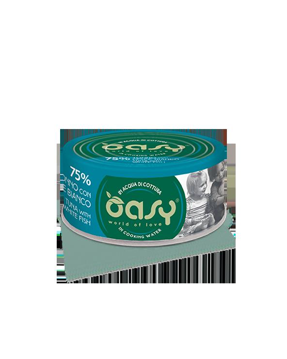 Oasy Cat More Love Tonno con Pesce Bianco Lattina 70 g