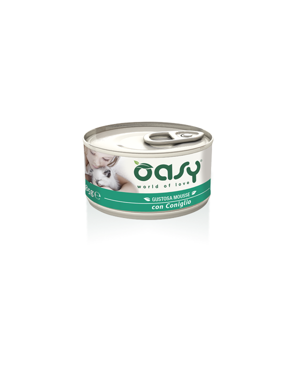 Oasy Cat Mousse con Coniglio 85 g
