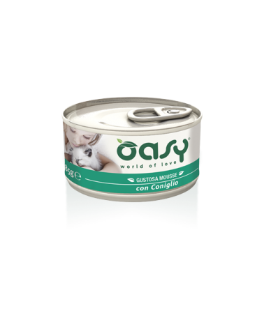 Oasy Cat Mousse con Coniglio 85 g
