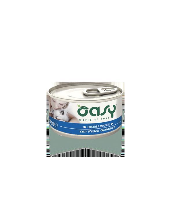 Oasy Cat Mousse con Pesce Oceanico 85 g