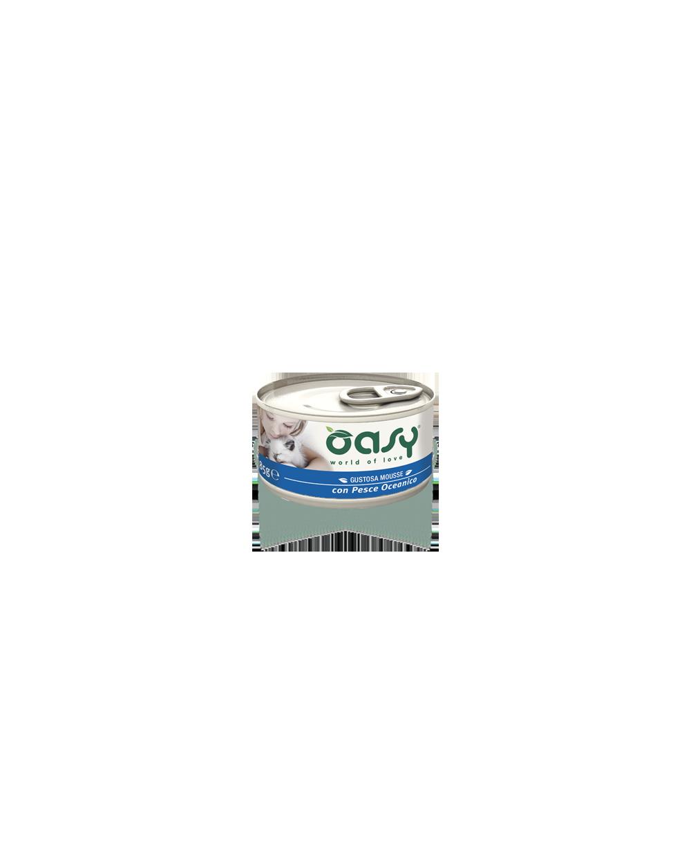 Oasy Gatto - Mousse con Pesce Oceanico