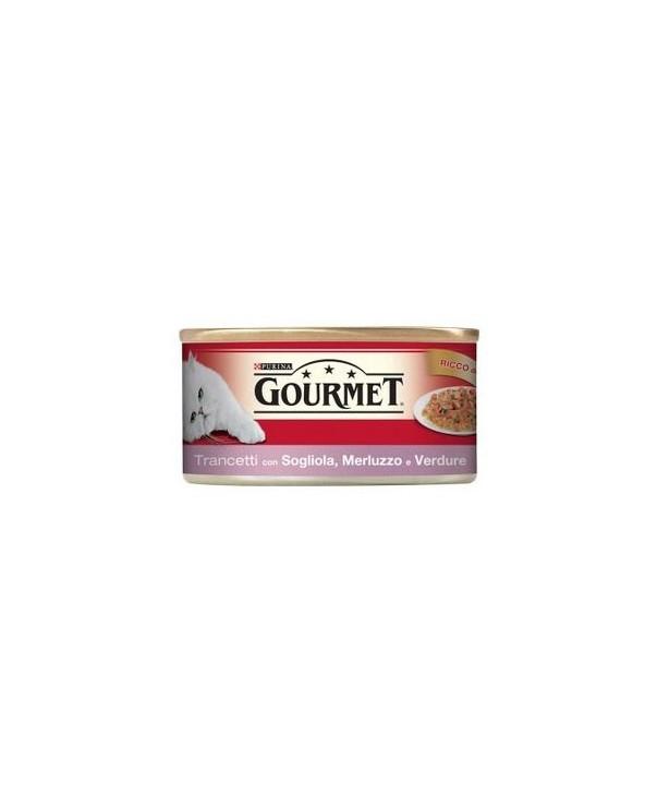 Gourmet Red Trancetti in Gelatina Sogliola Merluzzo e Verdure 195 g