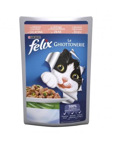 Felix le Ghiottonerie in Gelatina con Salmone e Zucchine 100 g