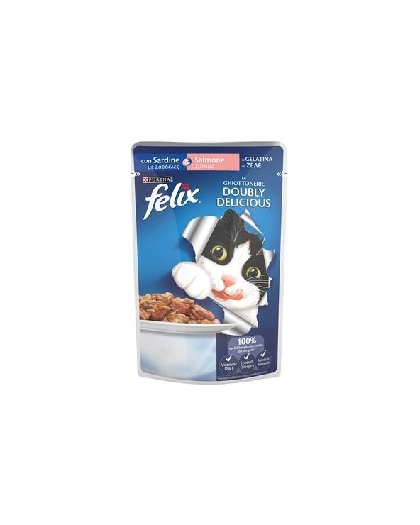 Felix Doubly Delicious con Sardine e Salmone in Gelatina