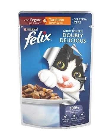Felix Doubly Delicious con Tacchino e Fegato in Gelatina 100 g