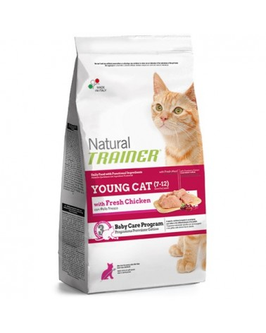 Natural Trainer Young Cat con Pollo Fresco 300 gr