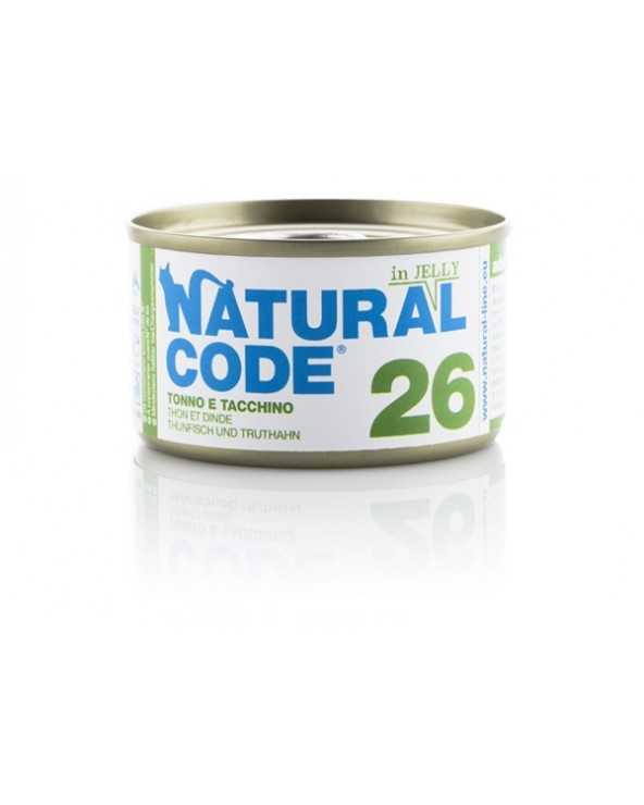Natural Code Adult Cat 26 Tonno e Tacchino 85g