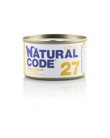 Natural Code Adult Cat 27 Tonno e Surimi 85 g