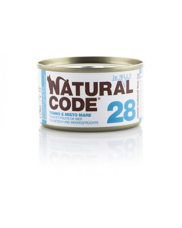 Natural Code Adult Cat 28 Tonno e Misto Mare 85g