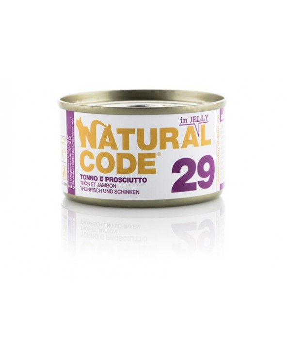 Natural Code Adult Cat 29 Tonno e Prosciutto 85g