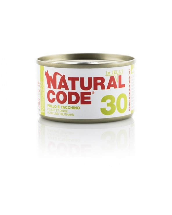 Natural Code Adult Cat 30 Pollo e Tacchino 85 g