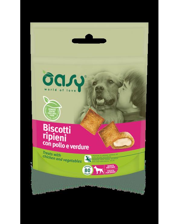 Oasy Dog Snack Biscotti Ripieni Pollo E Verdure