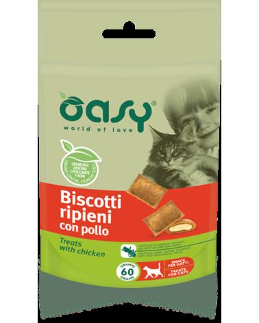 Oasy Cat Snack Biscotti Ripieni Adult con Pollo 60 g