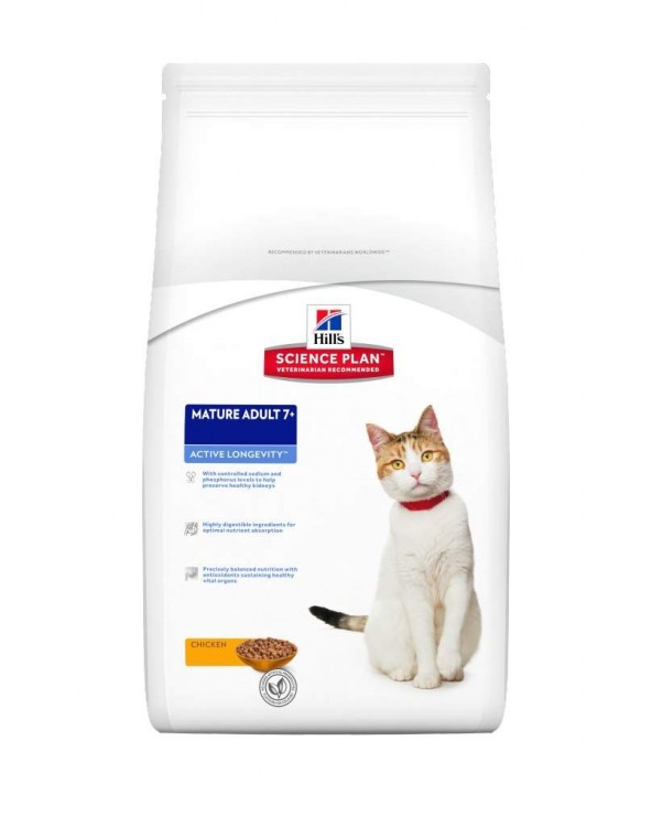 Hill's Feline Science Plan Mature Adult 7+ Active Longevity con Pollo 2 kg