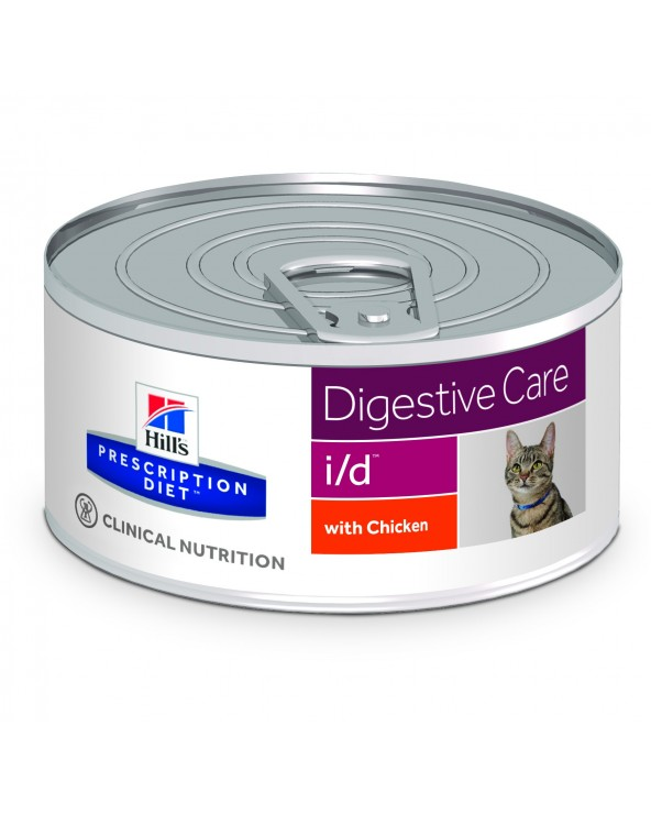 Hill's Feline Prescription Diet I/D con Pollo Lattina in Patè 156 g