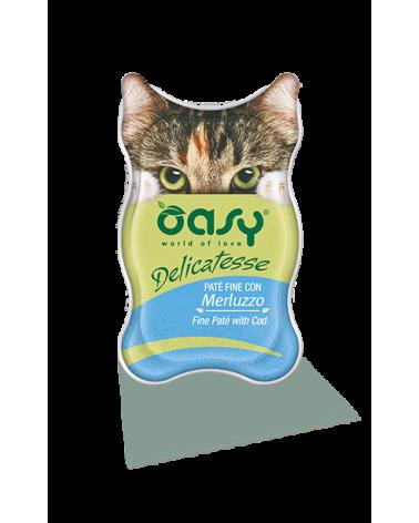 Oasy Cat Delicatesse Patè Fine con Merluzzo 85 g