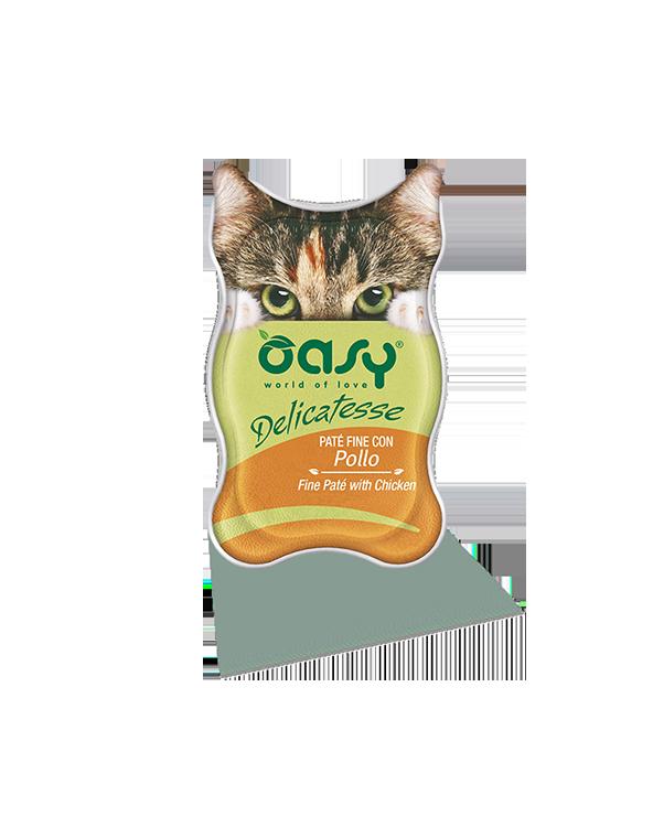 Oasy Cat Delicatesse Patè Fine con Pollo 85 g