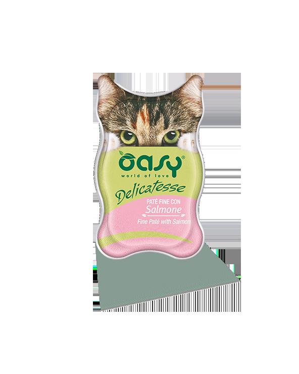 Oasy Cat Delicatesse Patè Fine Con Salmone 85 g