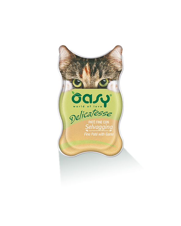 Oasy Cat Delicatesse Patè Fine con Selvaggina 85 g