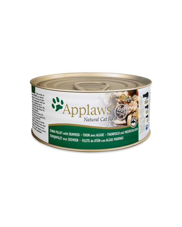 Applaws Lattina Tranci Di Tonno Con Alghe 70g