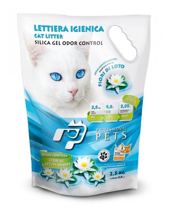 Professional Pets Lettiera Gel di Silicio - Fiori di Loto 5.8L