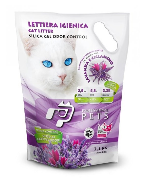 Professional Pets Lettiera Gel di Silicio - Lavanda 5.8L