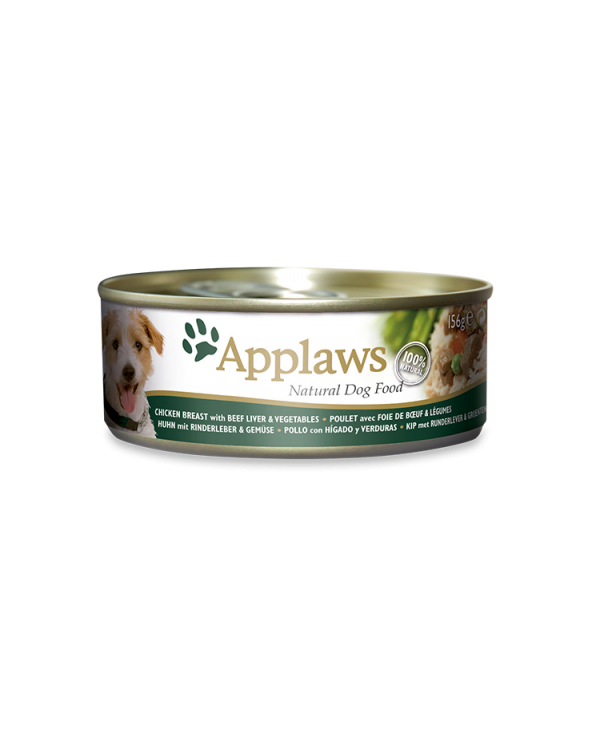 Applaws Dog Pollo Con Fegato Di Manzo Lattina 156 g