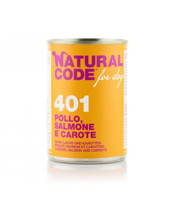 Natural Code Patè 401 Pollo Salmone e Carote