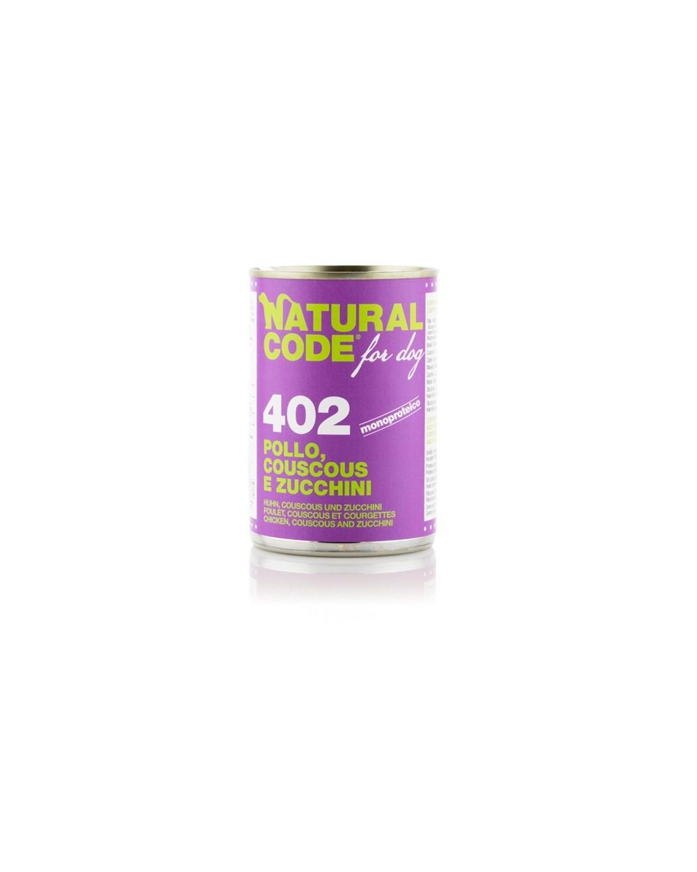 Natural Code Patè 402 Pollo Couscous e Zucchine