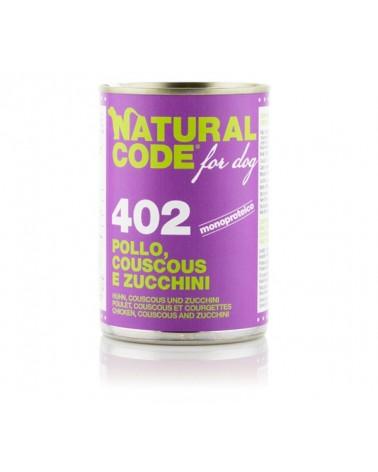 Natural Code Dog Patè 402 Pollo Couscous e Zucchine 400g
