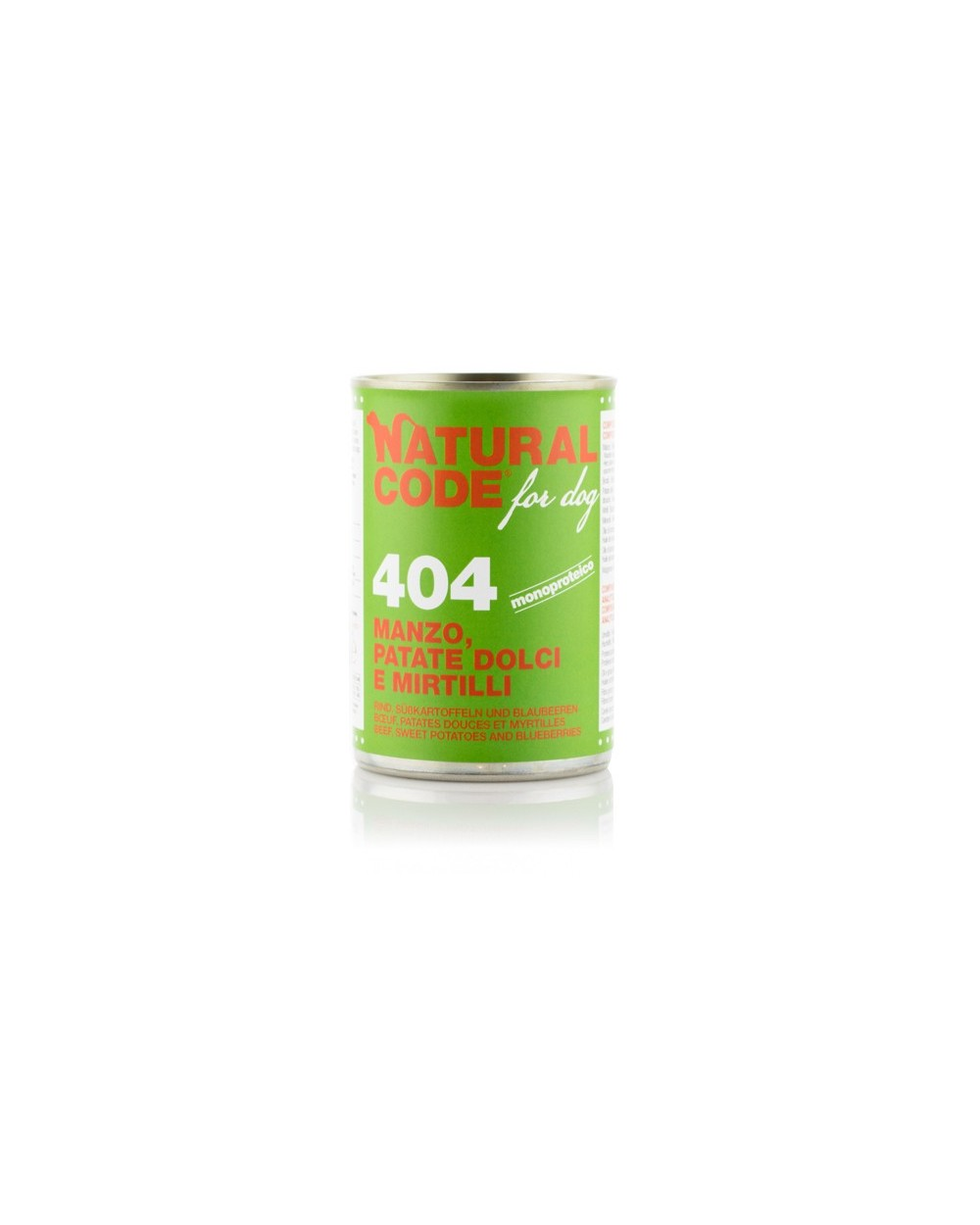 Natural Code Patè 404 Manzo Patate Dolci e Mirtilli