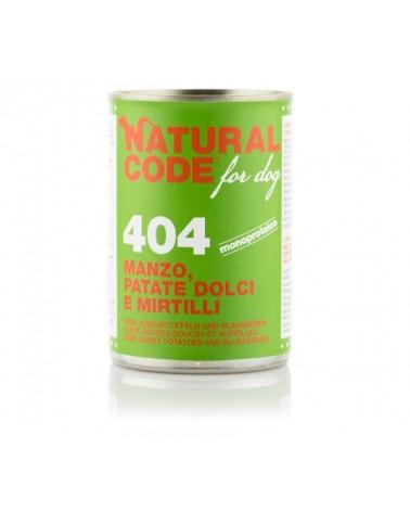 Natural Code Dog Patè 404 Manzo Patate Dolci e Mirtilli 400g
