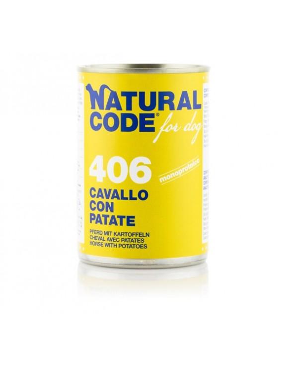 Natural Code Patè 406 Cavallo Con Patate