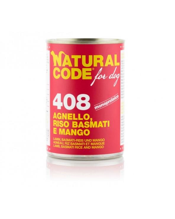 Natural Code Dog Patè 408 Agnello Riso Basmati e Mango 400g