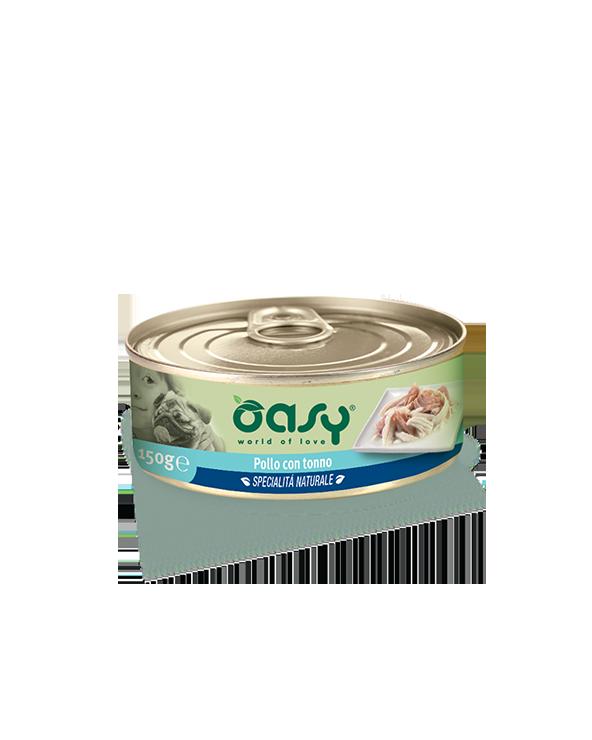 Oasy Dog Specialità Naturali Pollo Con Tonno Lattina 150g