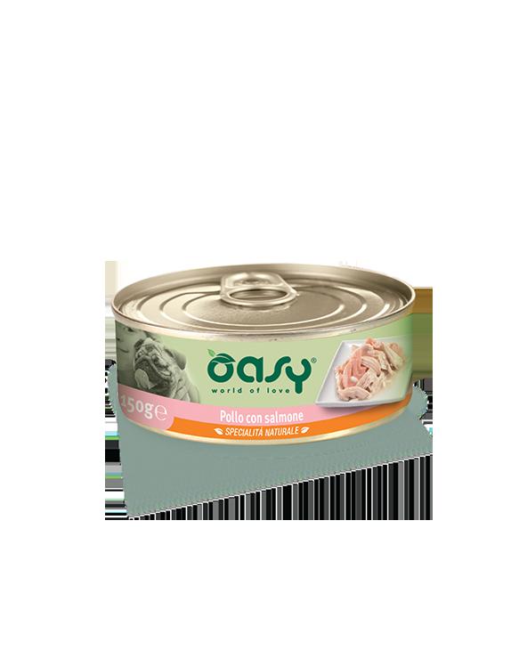 Oasy Dog Specialità Naturali Pollo Con Salmone Lattina 150g