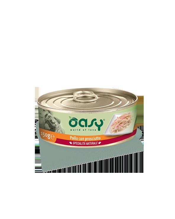 Oasy Dog Specialità Naturali Pollo Con Prosciutto Lattina 150g