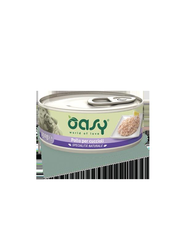 Oasy Dog Specialità Naturali Pollo Per Cuccioli Lattina 150g