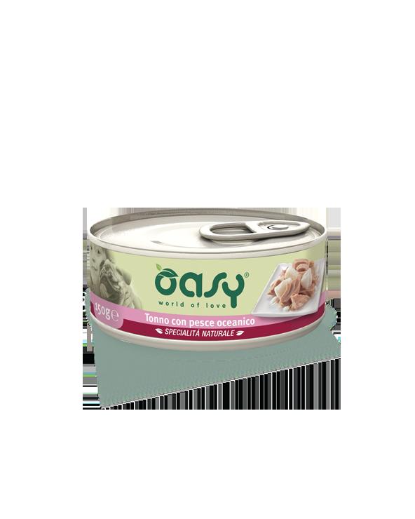 Oasy Dog Specialità Naturali Tonno Con Pesce Oceanico Lattina  150g