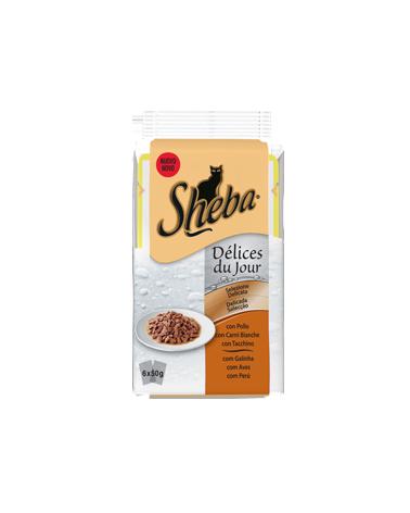 Sheba Delices Du Jour In Salsa Pollo Tacchino e Carni Bianche 6x50 g
