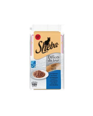 Sheba Delices Du Jour In Salsa Salmone Tonno e Merluzzo 6x50g