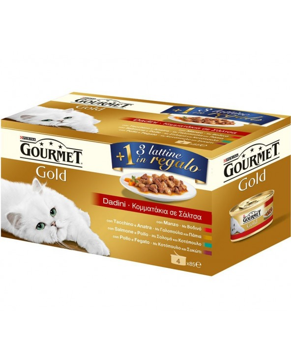Gourmet Gold Multipack 3+1 Dadini In Salsa 4x85g