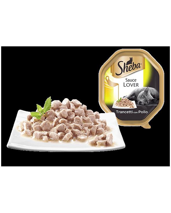 Sheba Sauce Lover Trancetti Con Pollo Vaschetta 85g