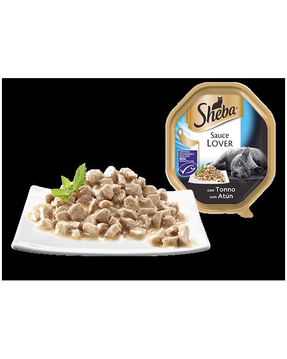 Sheba Sauce Lover Trancetti Con Tonno Vaschetta 85g