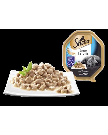 Sheba Sauce Lover Trancetti Con Tonno Vaschetta 85 g