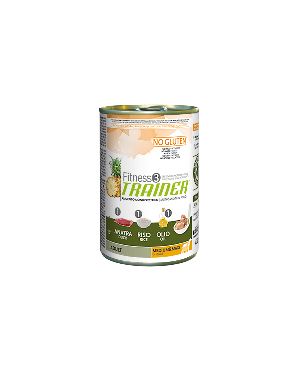 Fitness 3 Trainer Adult Anatra Riso e Olio Lattina in Patè 400 g