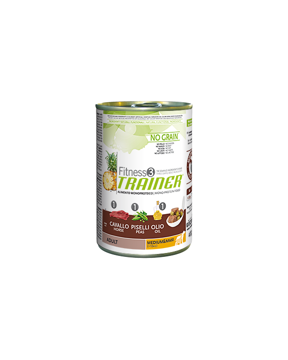 Fitness 3 Trainer Adult Cavallo Piselli e Olio Lattina in Patè 400 g