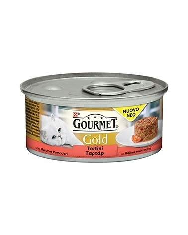 Gourmet Gold Tortini Manzo Con Pomodoro 85 g
