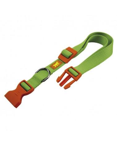 Ferplast Club Collare In Nylon Con Clip Verde e Arancio